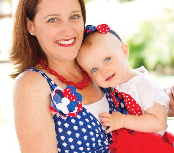 patriotic pinwheels party polka dot outfits