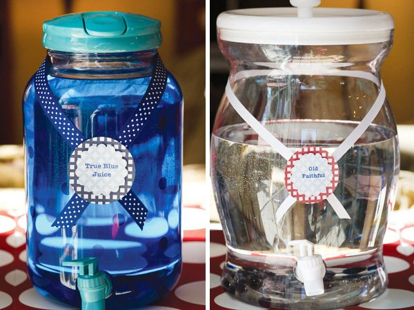 patriotic pinwheels party festive blue juice