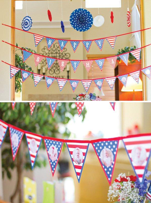 patriotic pinwheels party july 4th garland