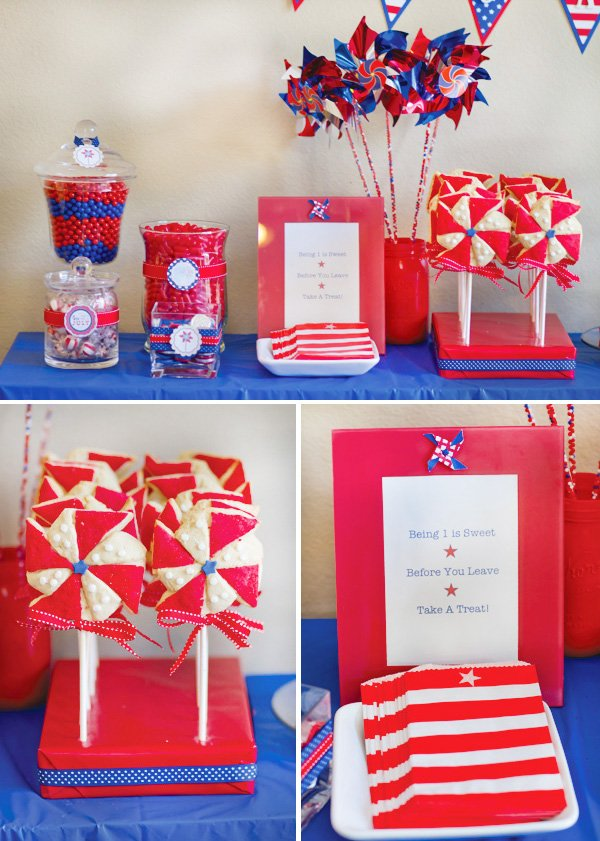 patriotic pinwheels party favor candy bags