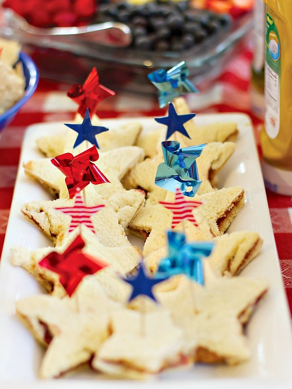 patriotic pinwheels party star spangled sandwiches