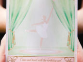 pink ballerina invitation
