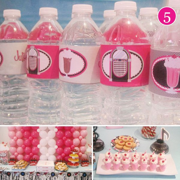 pink 50's diner party ideas