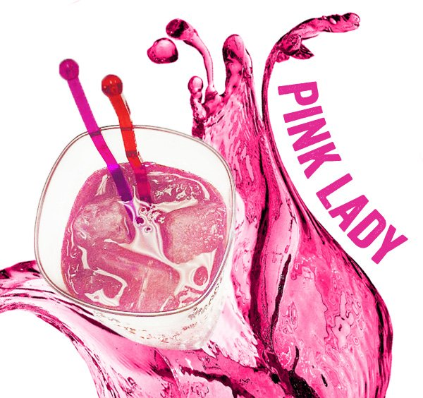 pink lady drink from Mrs. Lilien's Cocktail Swatchbook