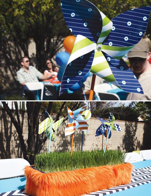 pinwheel monster decorations