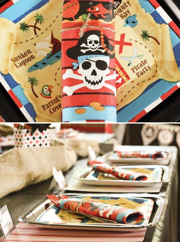 pirate party napkin