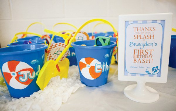 Pool Party First Birthday Favors