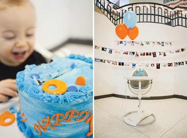 pool party first birthday highchair