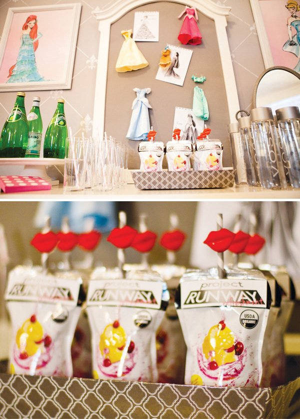 project runway party lipstick straws