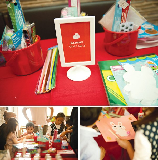 red rabbit kids craft table