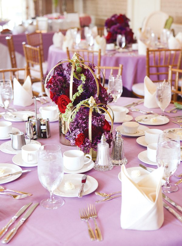 Floral crown centerpieces