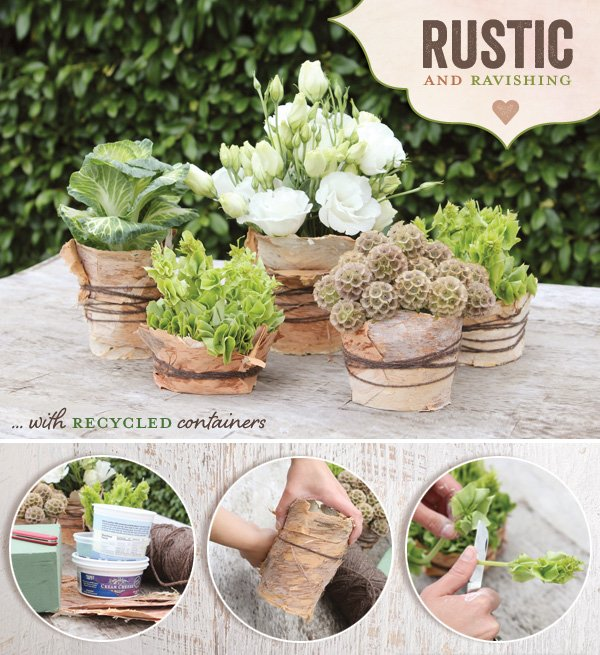 DIY Tutorial} Rustic & Natural Wedding Centerpiece Idea