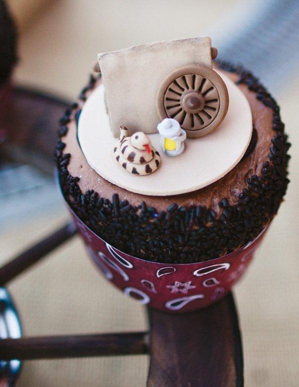 snake and lantern cupcake topper