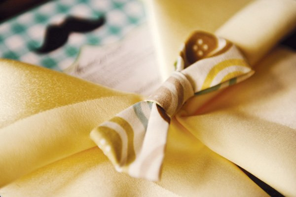 little man southern gentleman baby shower bow tie napkin
