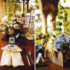 southern gentleman baby shower centerpieces