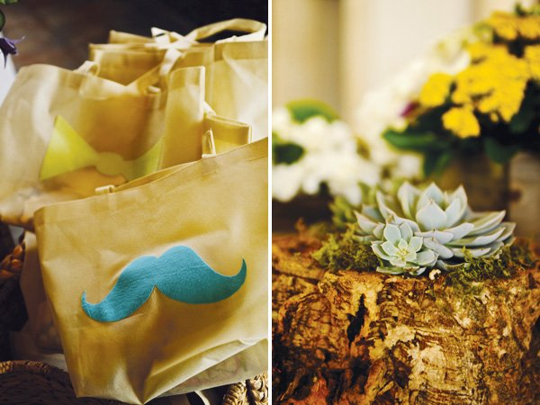 southern gentleman baby shower mustache tote