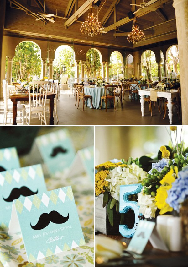 southern gentleman baby shower table numbers