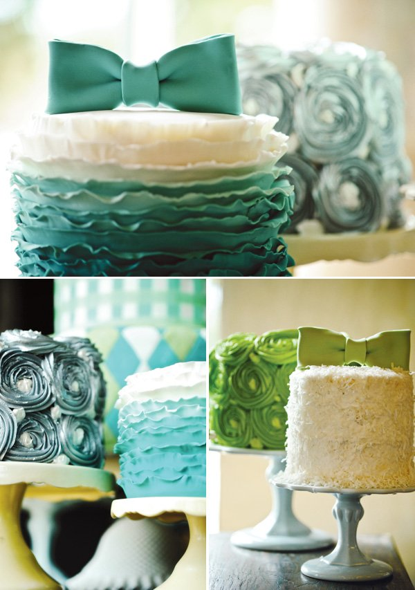 southern gentleman baby shower bow tie cakes