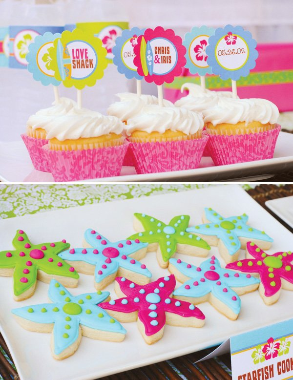 starfish sugar cookies - hawaiian luau