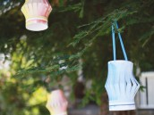 summer popsicle party with watercolor lanterns