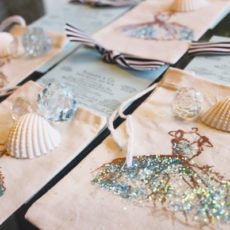 tiffany theme beach birthday invitations