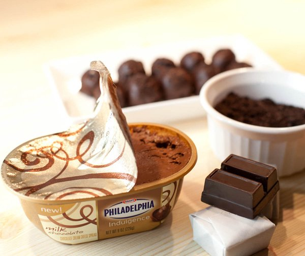 triple chocolate cheesecake truffles with philadelphia indulgence
