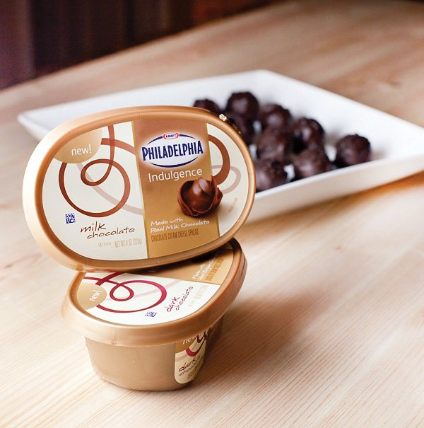 philadelphia indulgence ingredient to triple chocolate cheesecake truffles