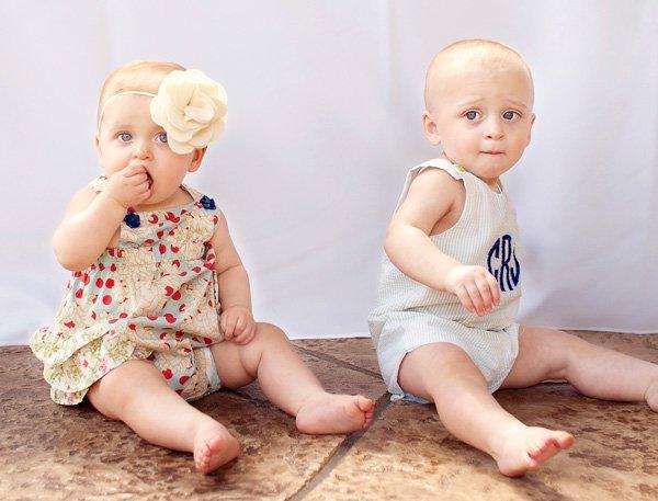 Twin Pinwheel Party Boy Girl Twins