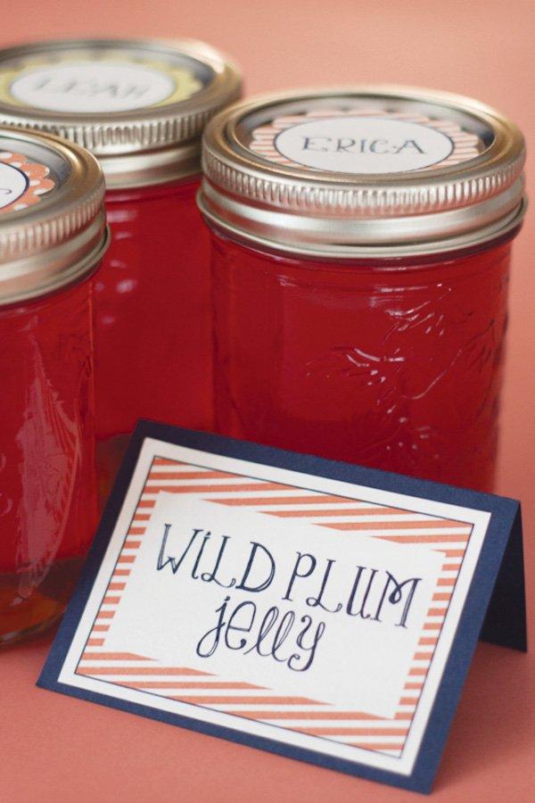 wild plum jelly favors