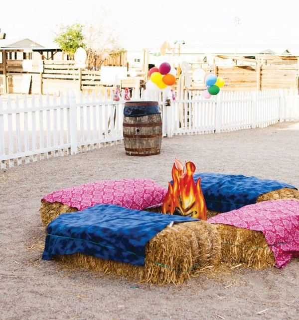 wild west birthday party campfire