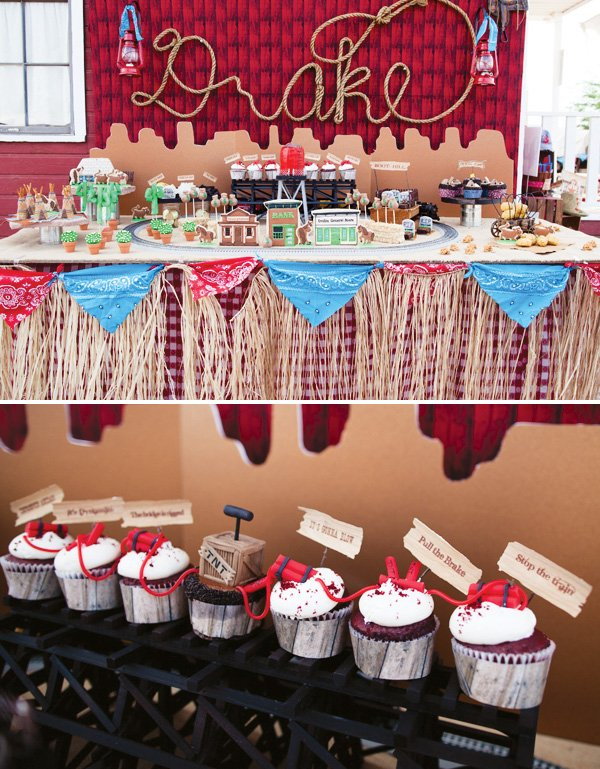 wild west cowboy dessert table