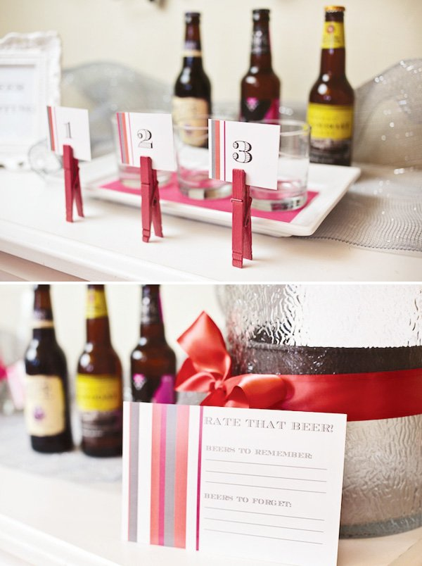 Bachelorette party with a beer tasting activity