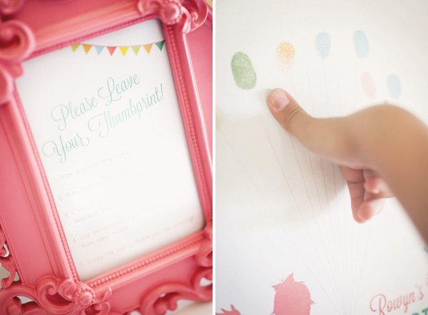 baby shower thumbprint activity