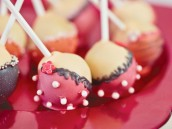 Bachelorette party lingerie cake pops