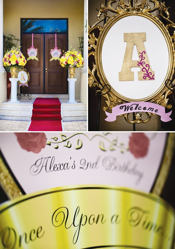 beauty and the beast themed party entrance