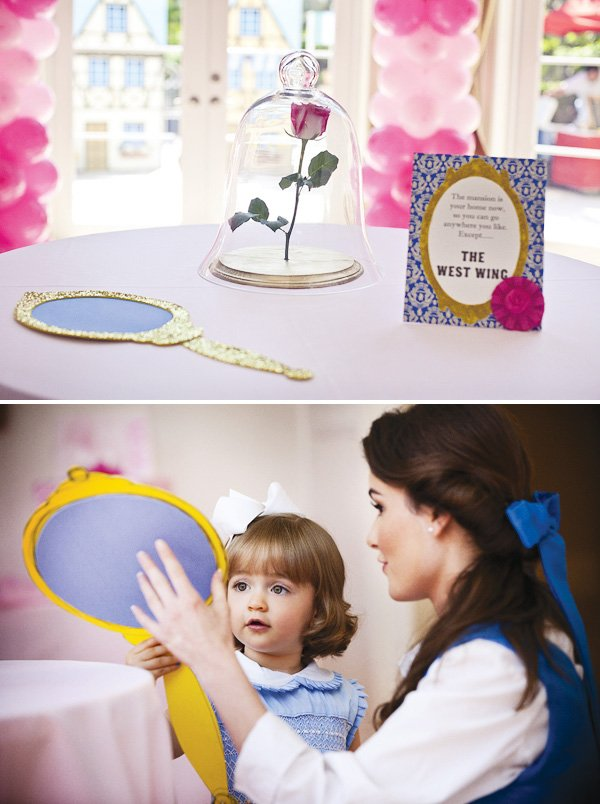 beauty and the beast theme with a belle mirror and the west wing