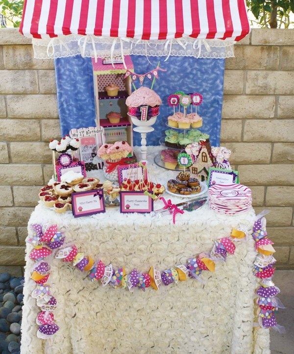 cupcake shop dessert table