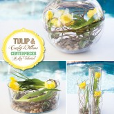 diy tutorial for a tulip and willow centerpiece with three varieties