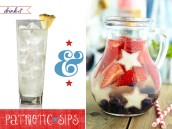 4th of july patriotic cocktails with fruit