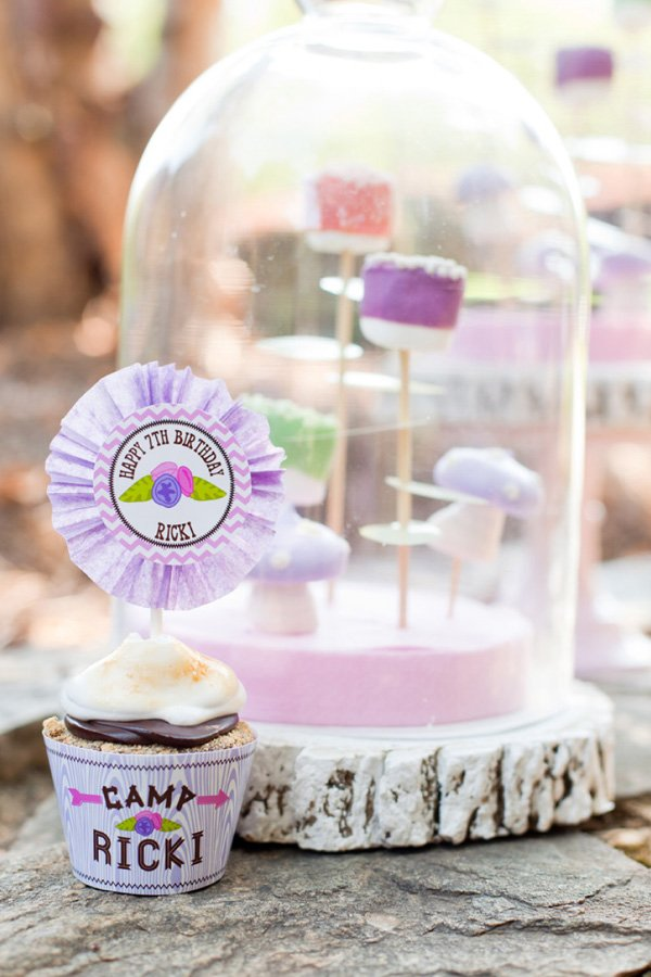 emily maynard's daughter, Ricki had a glam camping party s'mores cupcakes
