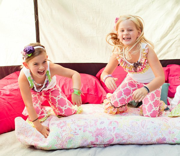 glam camping party
