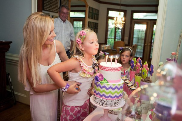 glam camping party for emily maynard's daughter Ricki