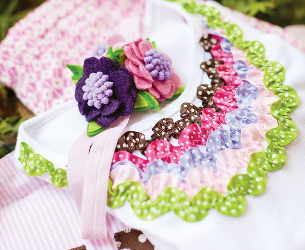 glam camping party headband