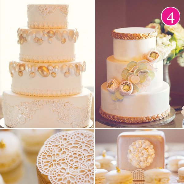 gold cake soiree