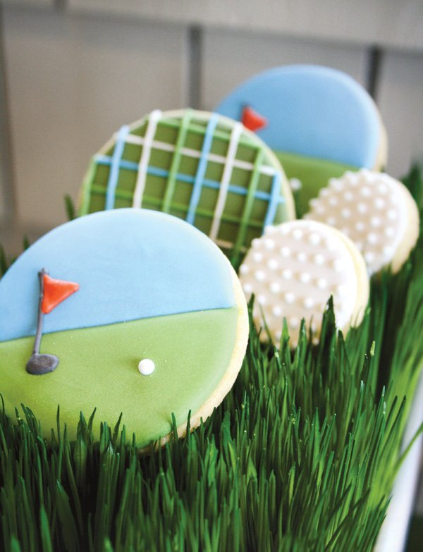 golf hole in one cookies