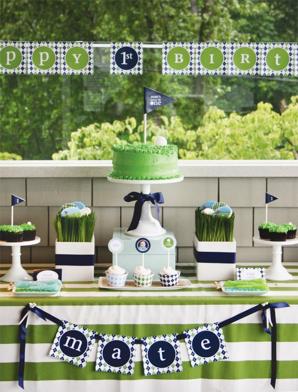 golf partee for a first birthday party
