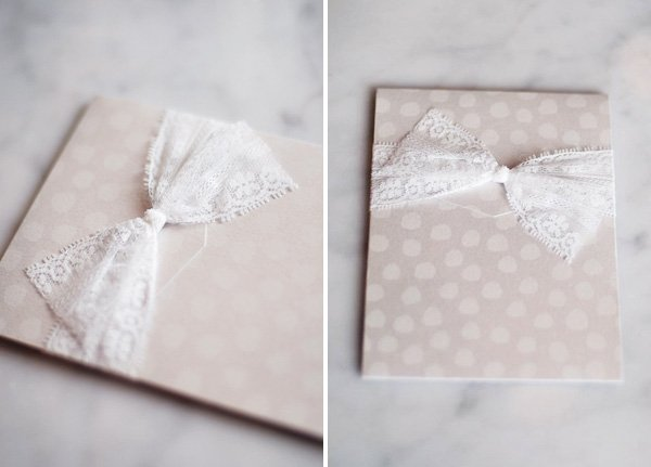 lace and bow invitation
