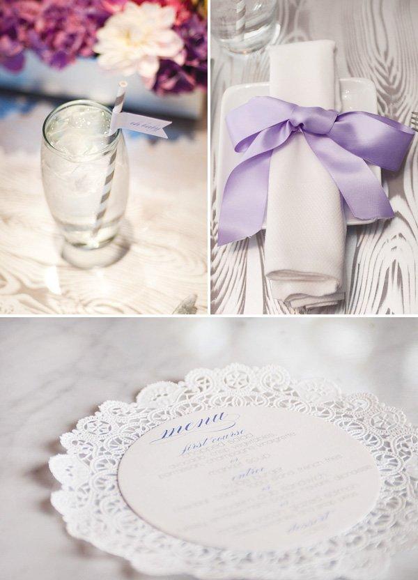 lace doily menu