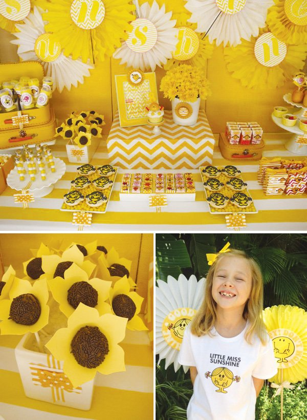 little miss sunshine dessert table