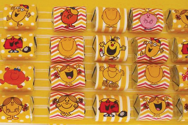 little miss sunshine candy wrappers